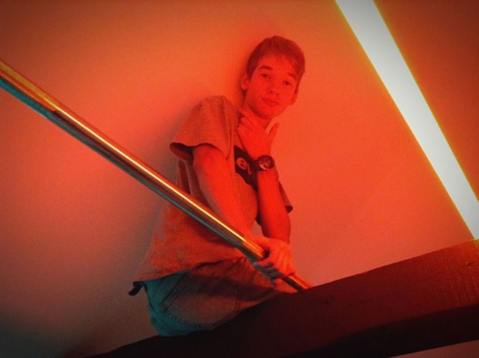 Guy in the top of a Club One Person Low Angle View Indoors  Men Adult Party Light Light And Shadow Instagramer