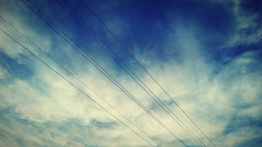 Cloud - Sky Nature Outdoors Sky Beauty In Nature EyeEm Selects EyeEmNewHere Clouds & Sky Clouds Blue Sky Powerlines Electricity