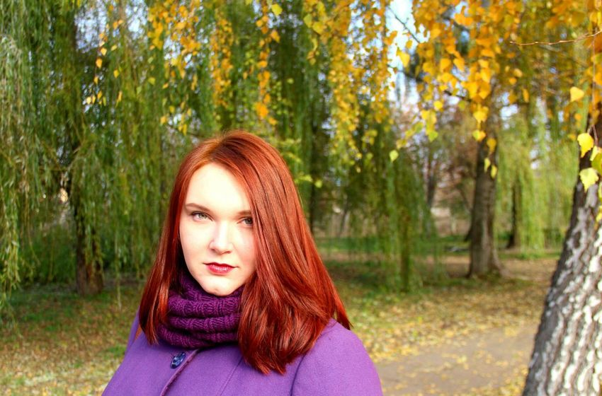 Relaxing Darklips Autumn Colors Autumn Hello World Hair Red Hair Eyes Beautiful Green Eyes Beauty Hi! Hi