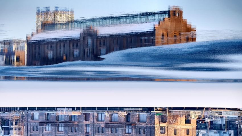 Berlin Photography Cityscape Ice Puddleography Reflection Rummelsburger Bucht Abstract Berliner Ansichten Day In Ice No People Outdoors Water Waves