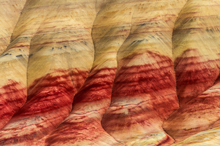 John Day Fossil Beds in Central Oregon Backgrounds Beauty In Nature Close-up Day Food And Drink Full Frame Indoors  Multi Colored Natural Pattern Nature No People Pattern Red Rock Still Life Striped Textile Textured  Wellbeing