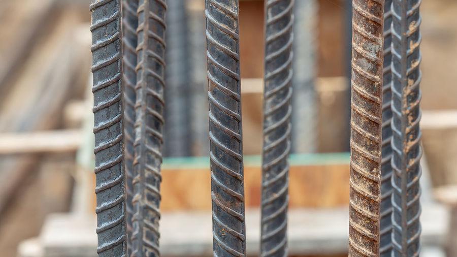 Close-up of metal rods