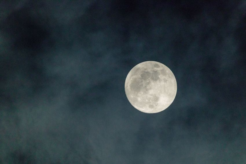 Moon & clouds Moon Full Moon Nature Astronomy Beauty In Nature Planetary Moon Moon Surface Night Tranquility Tranquil Scene No People Sky EyeEmNewHere