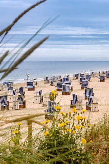 Sylt - Rotes Kliff Deutschland Kampen Kampen, Sylt Sylt Strand Sylt, Germany Beach Beach Chairs Horizon Over Water Nature No People North Sea Ocean Outdoors Rotes Kliff Sand Scenics Sea Sky Sylt Tourism Tourist Destination Tranquil Scene Travel Destinations Vacations Water