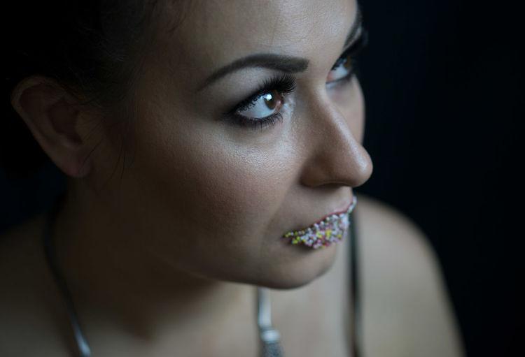 Beautiful Woman Beauty Candy Candylips Day Eye Eyeinfocus Headshot One Woman Only Portrait Studio Shot Young Women