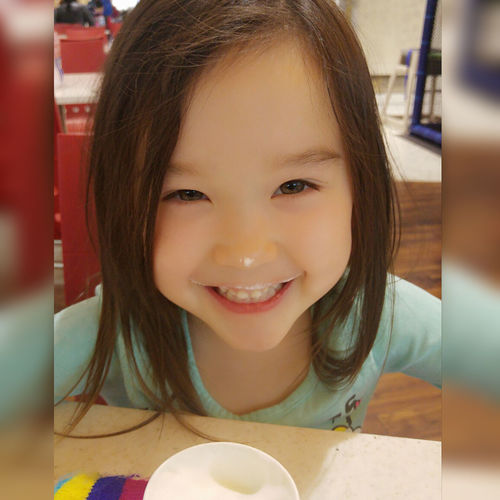 babyccino time Smiling Innocence Little Girl Human Face Close-up Childhood Relaxing Time Bonding Moment