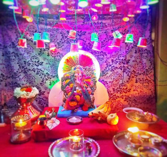 Ganesh festival Celebration Tradition Multi Colored Indoors  First Eyeem Photo