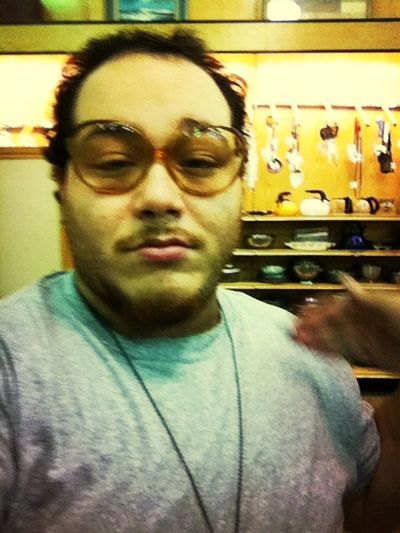 Me bored in the thrift shop