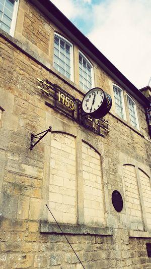 Bradfordonavon Clock Oldclock Stone Wall 1953