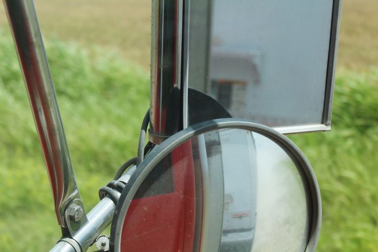 Transportation Side-view Mirror Day Vehicle Mirror Wheat Truck