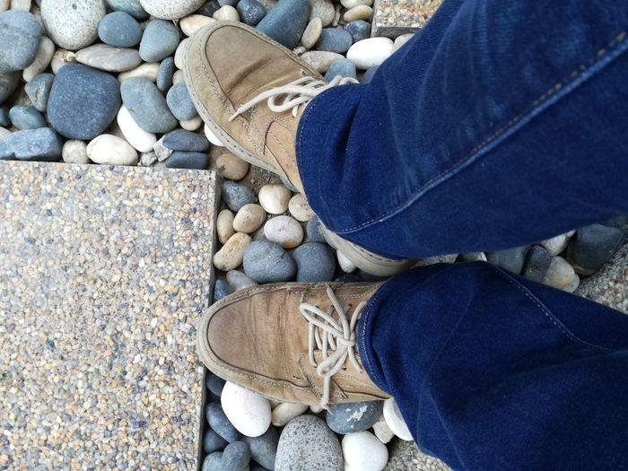Good old shoes... Clarks Levi's Shoes Jeans