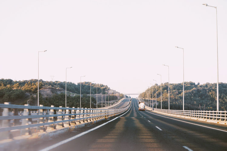 Car Point Of View Highway Road Cars Golden Hour Trip City Vehicle Elevated Road Traffic Bridge - Man Made Structure Multiple Lane Highway Empty Road