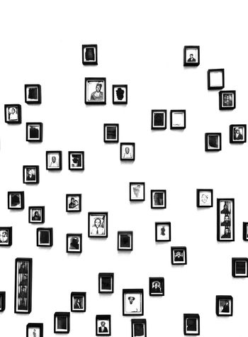 multiple photo frames on a white wall Photos Backgrounds Bandw Blackandwhite Close-up Frame Frames Monochrome Monochrome Photography No People Photo Frame Photo Frames Technology White Background