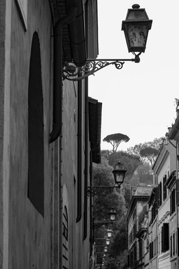 Architecture Black And White Building Exterior Lamp Lamps No People Outdoors Perspective Perspective Lines Roma Rome Street Light The KIOMI Collection Showcase April