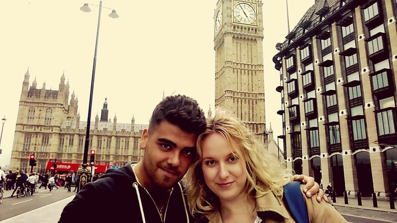 Sergio  Karolina Firstmeeting LONDON❤ Big Ben Date Amazing Two People Tourism Travel Destinations Portrait Adult Looking At Camera Togetherness Clock Tower Vacations People England 🇬🇧 GreatMemories ❤ Architecture