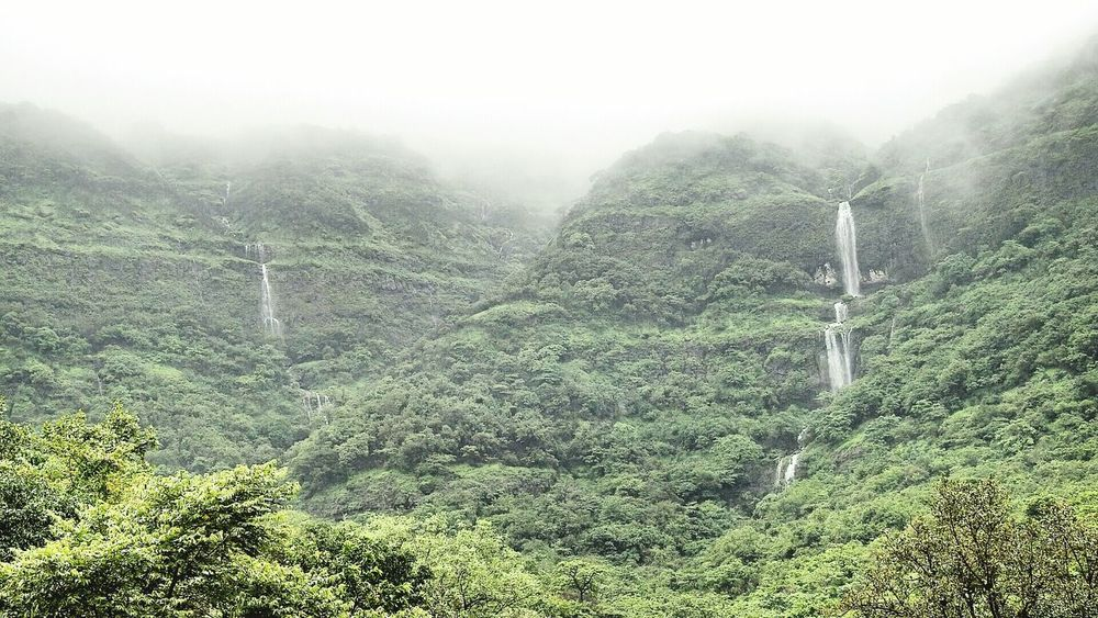 Beautiful Roads Water_collection Waterfalls And Calming Views  Beautiful Nature Waterfall Fog_collection Foggy Day Foggy Monsoonseason