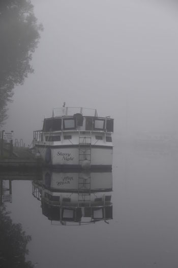 Barton Broad Barton Turf Beauty In Nature Day Fog Lake Nature Nautical Vessel No People Norfolk Norfolk Broads Outdoors Reflection Sky Tranquility Tree Water