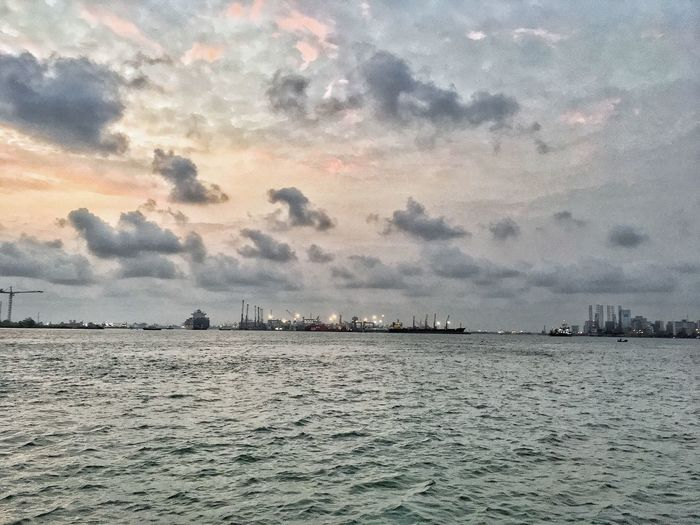 Lagos Sky Water Beauty In Nature Sea Cloud - Sky Scenics - Nature Sunset Tranquility Tranquil Scene Nature Waterfront Architecture Land Idyllic No People Outdoors