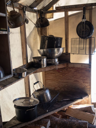 Camping Wilderness Area Appliance Canada Cooking Utensil Cupboard Day Hanging Improvised Indoors  Kitchen No People Stove Stuff Tent Wilderness Adventure Wildernessculture Yukon Territory
