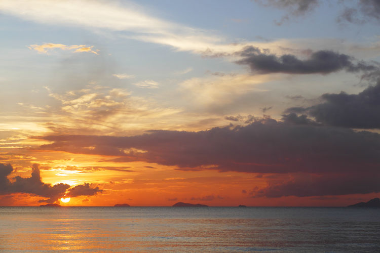 Samio sunset Cloudy Sky Dramatic Sky THAILANND Beach Beauty In Nature Cloud - Sky Horizon Over Water Nature No People Outdoors Scenics Sea Seascape Sky Sunset Tranquil Scene Tranquility Water