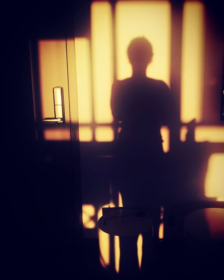 Silhouette One Person Indoors  Real People Light And Shadow Shadow Sun Shadow Wall Wall Shadow Sunlight Mix Yourself A Good Time