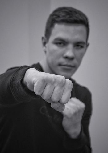 Boxing - Sport Boxing Glove Punching Conflict Adults Only Aggression  Strength Fighting Stance Looking At Camera Fighting