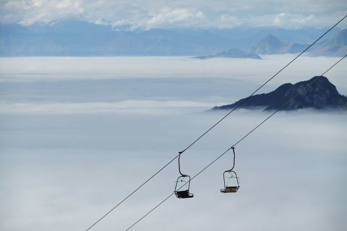 König Laurin Lift zur Kölner Hütte Cabin Cable Chair Chairlift Dolomites, Italy Dolomiti Inversion Laurin Lift Mountain Mountain Range Mystery Overhead Cable Car Paolina Rifugio Rosengarten Scenics Sky Wires