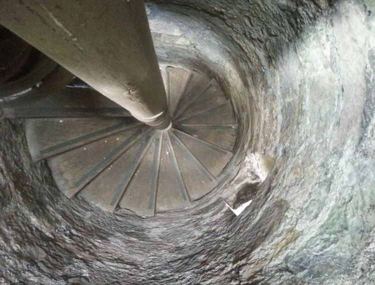 Spiral Staircase Ancient Ruins Historical Building Steps No People Stone Material From My Point Of View Mobile Photography Eye For Photography Scottish Highlands Loch Leven Scotland Ruined Building Look Down