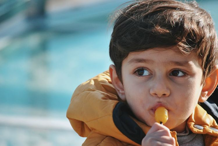 EyeEm Selects Portrait Water Child Childhood Looking At Camera Headshot Close-up Sky