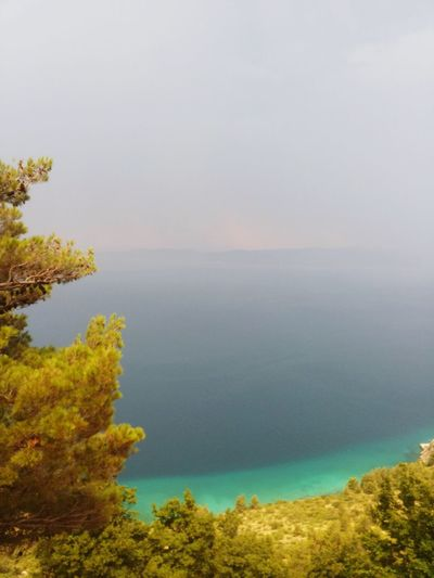 Stormy weather over Adriatic sea... Beautiful contrast! Adriatic Sea Adriatic Adriaticsea Adriatico Adria Vacation Vacation Summer2015 Summersummersummertime Summer ☀