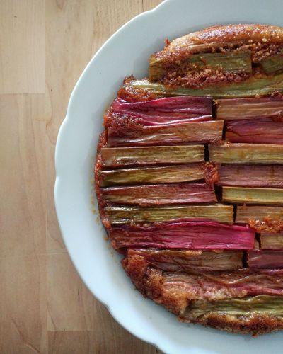 Rhabarberkuchen Rhabarber Baking Meat Wood - Material Golf Club Pie Served