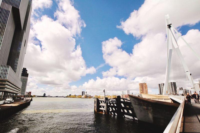 Sky Water City Architecture Erasmusbrug