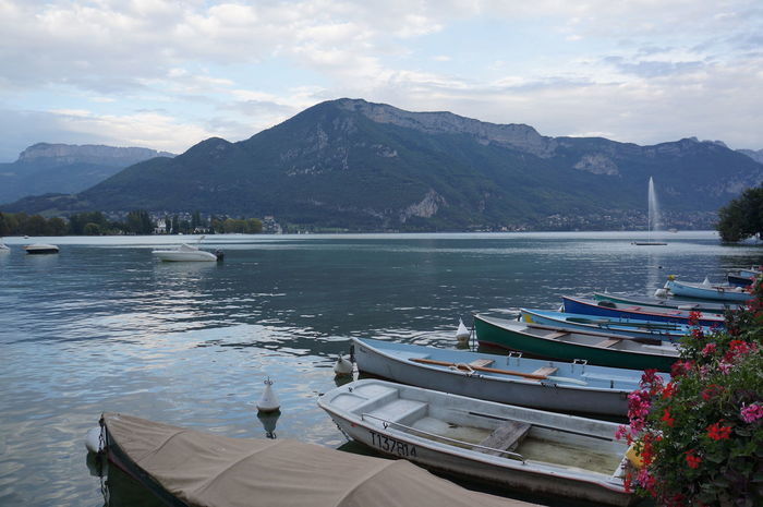 Annecy lake Annecy Lake Annecy, France Beauty In Nature Boat Cloud Cloud - Sky Day Lake Mode Of Transport Moored Mountain Mountain Range Nature Nautical Vessel Outdoors Scenics Sea Sky Tourism Tranquil Scene Tranquility Transportation Travel Water