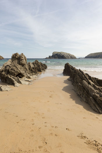Cantabria Arnia Beach Beauty In Nature Coast Day Horizon Over Water Landscape Nature No People Ocean Outdoors Sand Scenics Sea Sky Tranquility Water