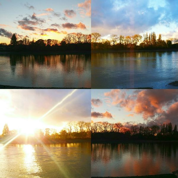 Phases of sunset... at Craven Cottage Football Stadium. Beauty In Nature No Filter No Filter Needed No Filters Or Effects Eyeem Best Edits-No Edit EyeEm Sunsets Perfection Of Nature Unfiltered No Filters Needed River View Riverside Photography Sunset Silhouettes Sunset_collection Phases Of Sunset Sunset By The River River Thames London Showcase: February The Rise Of Nature
