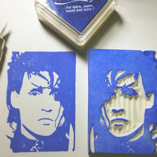 Rubberstamps Rubberstamp Jonhnnydepp ScissorHands edward edwardscissorhands