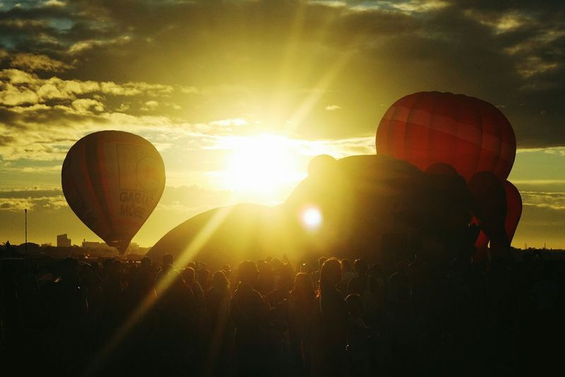 2015 International Hot Air Balloon Festival, Philippines ~ The Traveler - 2015 EyeEm Awards Travel Traveling On The Road Adventure Silhouettes Sunset Sunset Silhouettes Sunset_collection Light And Shadow