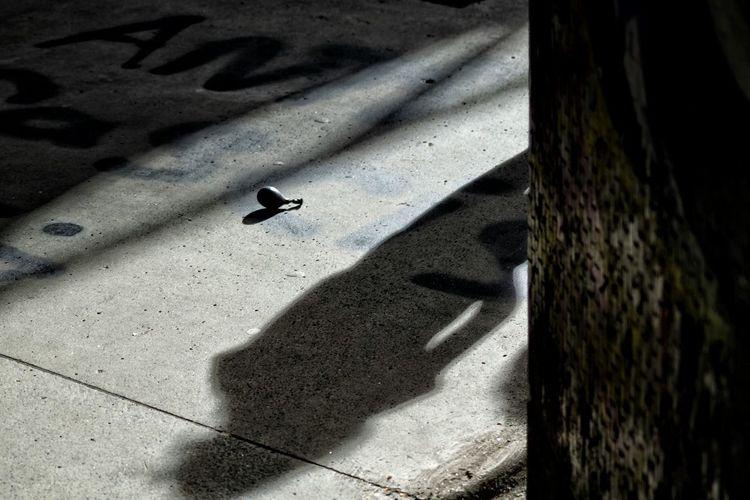 High angle view of shadows
