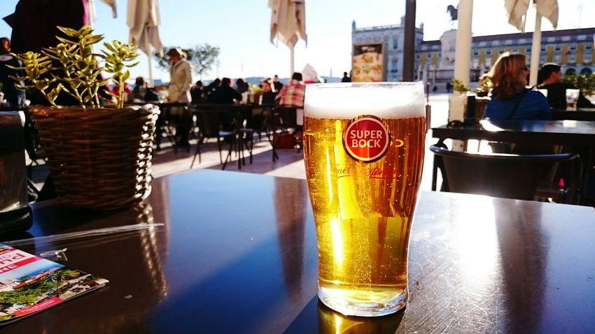 Beer Cerveza Super Bock Sun Lisbonne Lisboa Lisbon Portugal