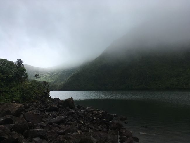 Dominica Beauty In Nature Day Fog Landscape Mountain Nature No People Outdoors Scenery Scenics Sky Tranquility Tree Water