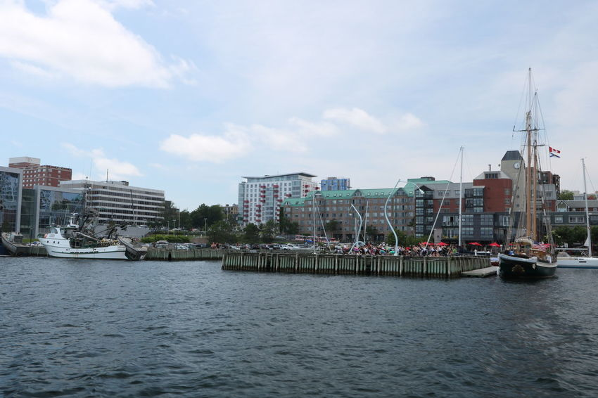Architecture Group Of People Harbour Nautical Vessel Nova Scotia Outdoors Structure Art Urban Skyline Yoga