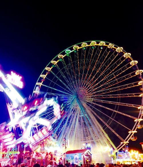 Amusement Park Amusement Park Ride Arts Culture And Entertainment Bad Dürkheim Big Wheel Bright Circle Enjoyment Ferris Wheel Illuminated Large Lighting Equipment Low Angle View Multi Colored Night Nightlife Outdoors Sky Traveling Carnival Weinfest Wurstmarkt