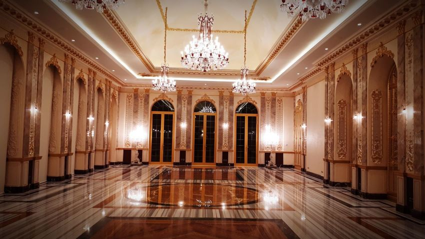 Wall Art Photo ArtWork ART PAINTING Architecture Architectural Column Reception Hall Chandelier Palaces Chandelier Light Chandelier Crystals Baccarat Marble Marble Floor Wall Design And Art Royal Royal Palace Royalty Marble Floors Palace Marble Floor Reflections
