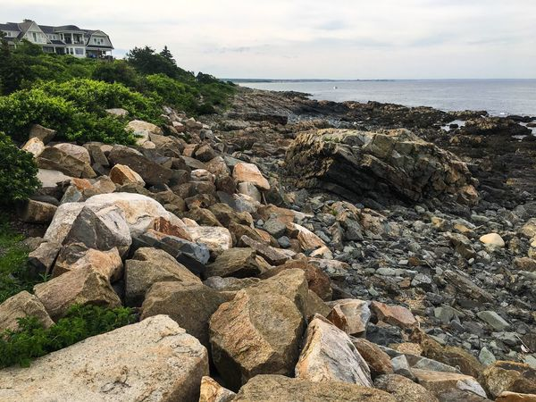A coastal view of a rocky segment on the Marginal Way near Ogonquit, Maine. Landscape Photography Landscape_Collection Marginal Way Beach Beauty In Nature Day Horizon Over Water Landscape_photography Nature No People Outdoors Rock - Object Scenics Sea Seaview Seaviewcollection Sky Tranquil Scene Tranquility Water