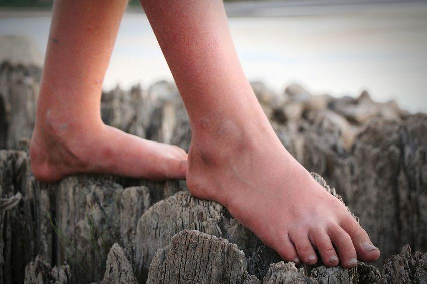 Barefoot Exploring South Saskatchewan River