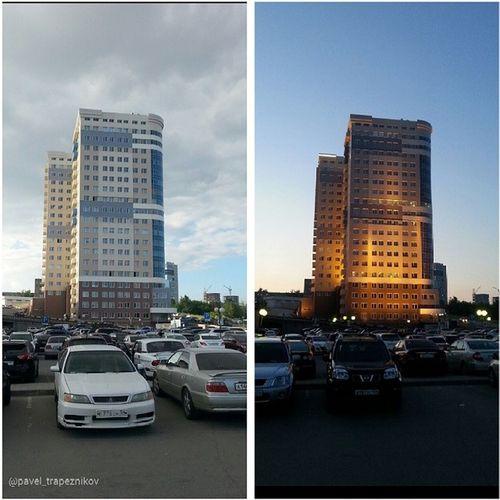 """20140630 , Новосибирск . Деловой центр """"Новая высота"""". День и вечер/ Novosibirsk . Business center """"New Height"""". Day and Evening."""