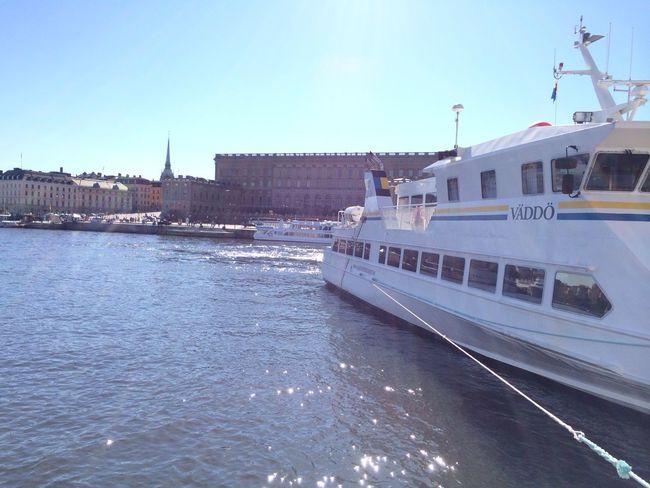 Stockholm Slott Boat Lovely Weather