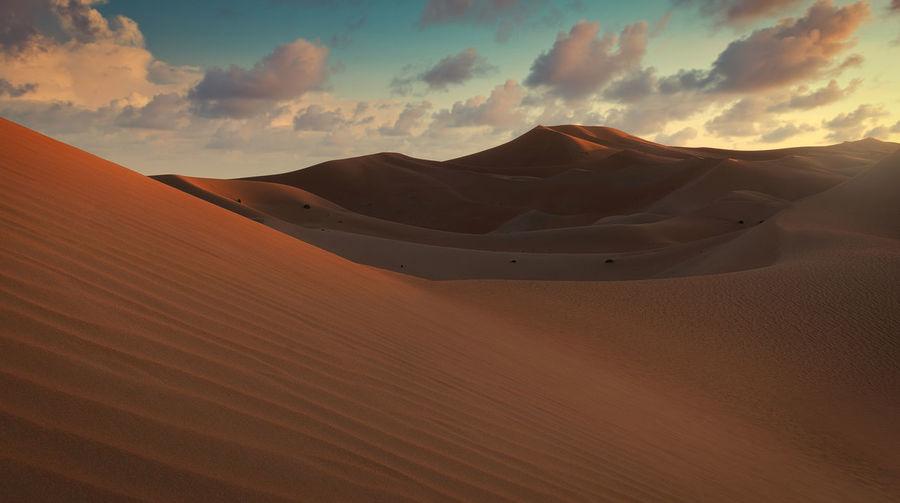 Sharjah desert at sunset