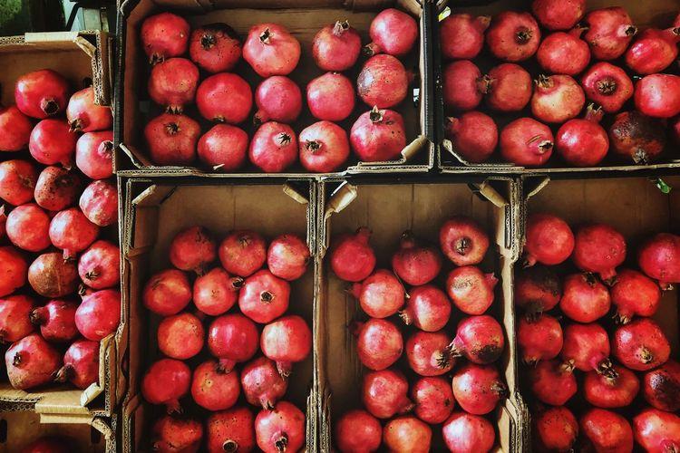 Pomegranates for sale in market