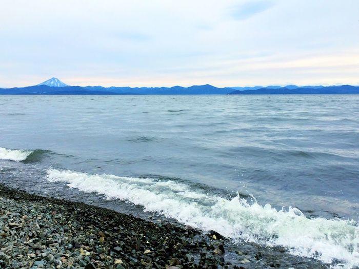 Russia Sea Hello World Volcano Beautiful Kamchatka Summer Nature Ocean The Sunset